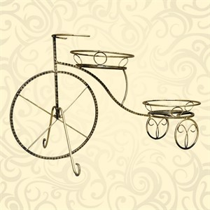 Кованая подставки для цветов велосипед