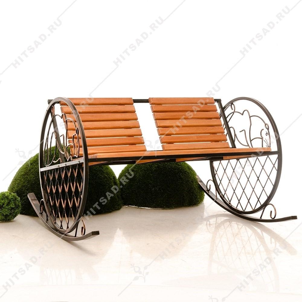 Кованая кресло качалка 881-48R - фото 14671