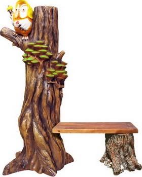 Лавочка Сова на дереве F07343 - фото 4965