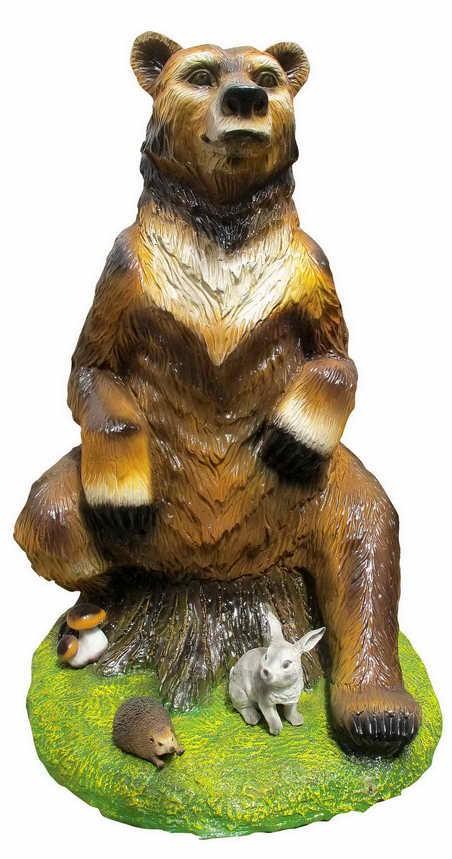 Медведица на пне большая F07147 - фото 5024