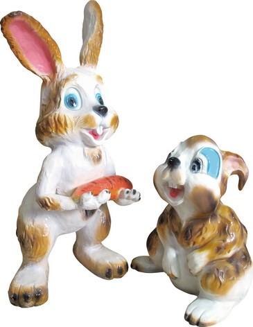 Заяц с морковкой бол. F07263 - фото 5174