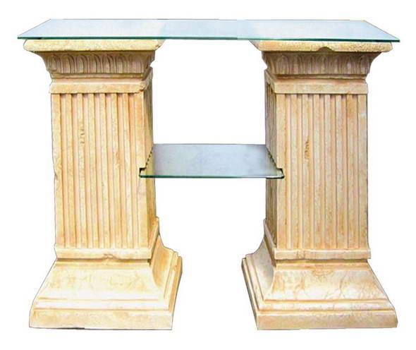 Стол две колонны с 2-полками S06008 - фото 5248