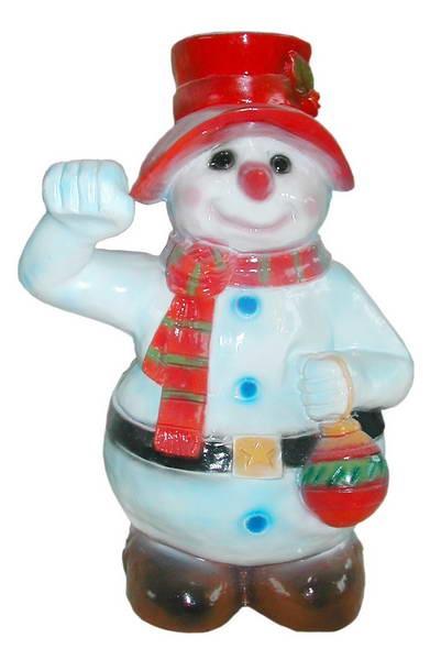 Снеговик с фонарем F03105 - фото 5303