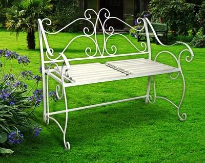 Белая скамейка - фото 5416