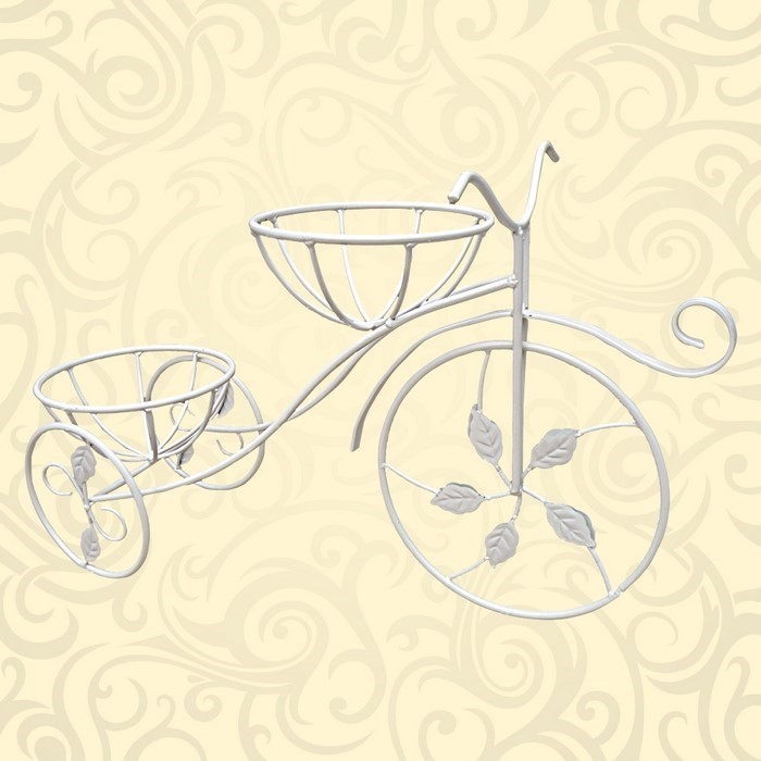 Подставка под цветы на подоконник велосипед