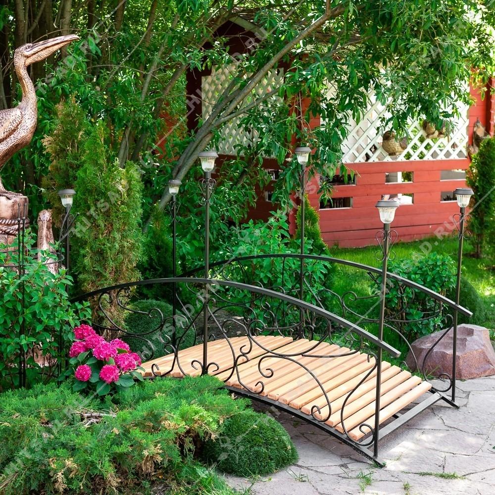 Садовый мостик с 6 фонарями - фото 6745