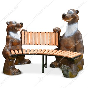 Скамейка Медведи Балу