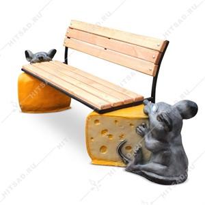 Детская скамейка Мышки