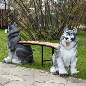 Скамейка для дачи Щенята