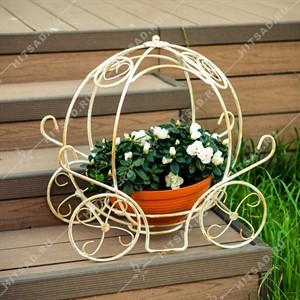 Кованая цветочница Карета
