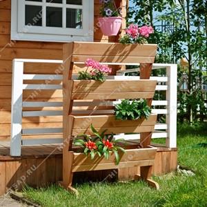 Деревянная подставка для цветов 59-188