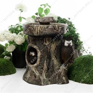 Садовый фонтан с совой