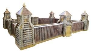 Песочница-Башня центральная с воротами деревянная F07217