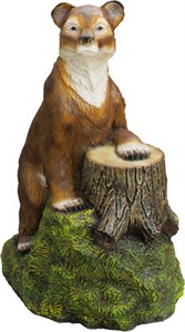 Медведь с пнем большой F07143