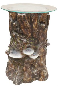 Пень большой с грибами (ламинат) F 02022