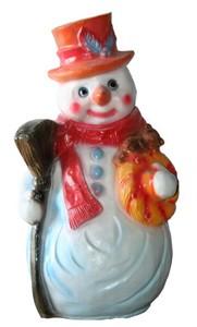 Снеговик с метлой F03106