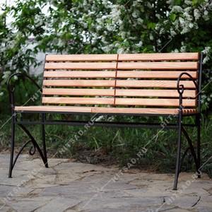 Скамейка садовая из металла