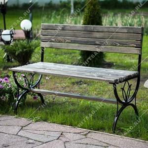 Скамейка для дачи металлическая