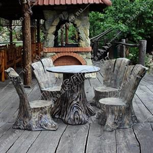 Комплект садовой мебели Пеньки
