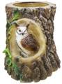 Пень кашпо с совой (ламинат) F 04057 - фото 5277