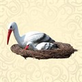 Фигура для сада гнездо с аистами